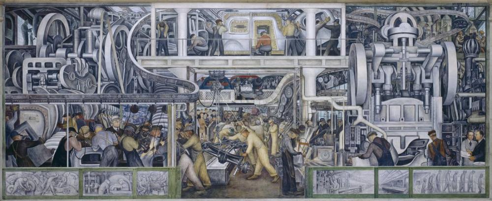 Diego Rivera, Detroit Sanat Enstitüsü, Güney Duvarı, Figür, Diego Rivera