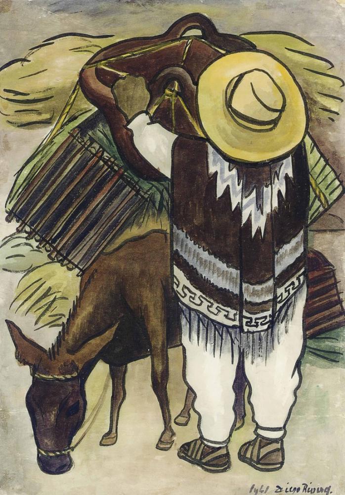 Diego Rivera, Meksikalı İsimsiz, Kanvas Tablo, Diego Rivera