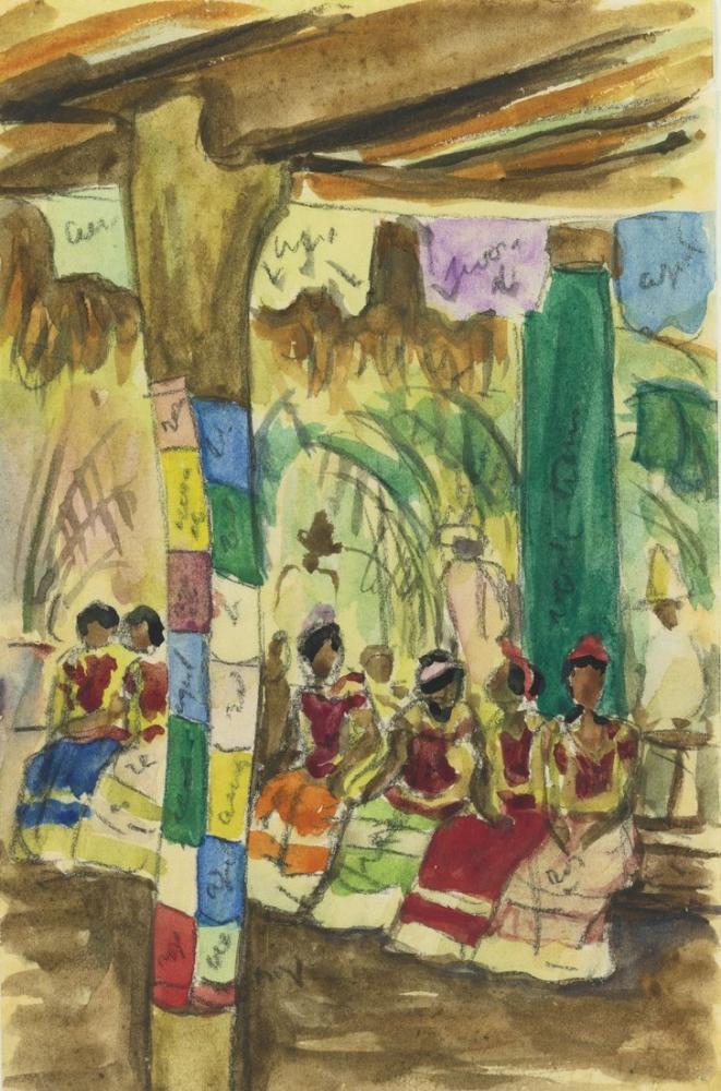 Diego Rivera, Fiesta en Tehuantepec, Figure, Diego Rivera, kanvas tablo, canvas print sales