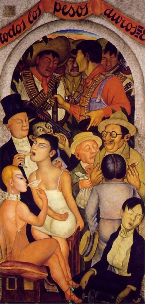 Diego Rivera, Night of the Rich, Canvas, Diego Rivera, kanvas tablo, canvas print sales