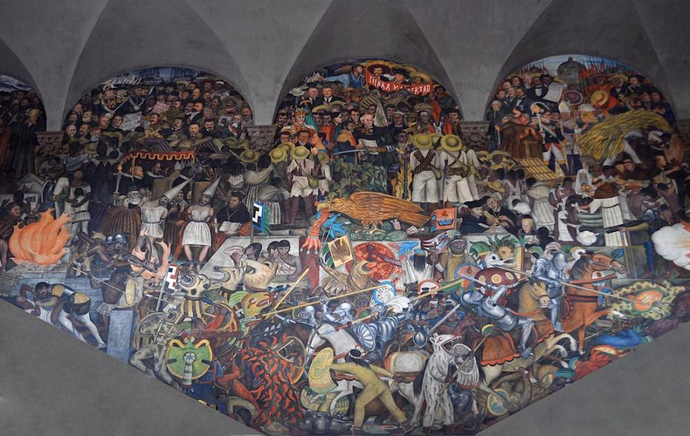 Diego Rivera, De la Conquista a 1930, Figure, Diego Rivera, kanvas tablo, canvas print sales