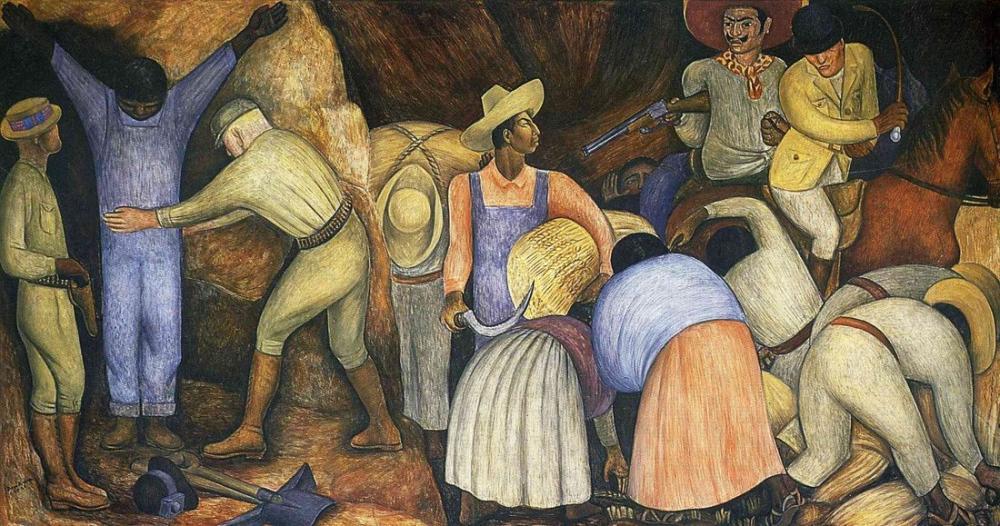 Diego Rivera, Sömürücüler, Figür, Diego Rivera, kanvas tablo, canvas print sales