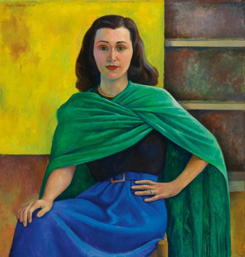 Diego Rivera, Dona Laura Villasenor Portresi, Kanvas Tablo, Diego Rivera