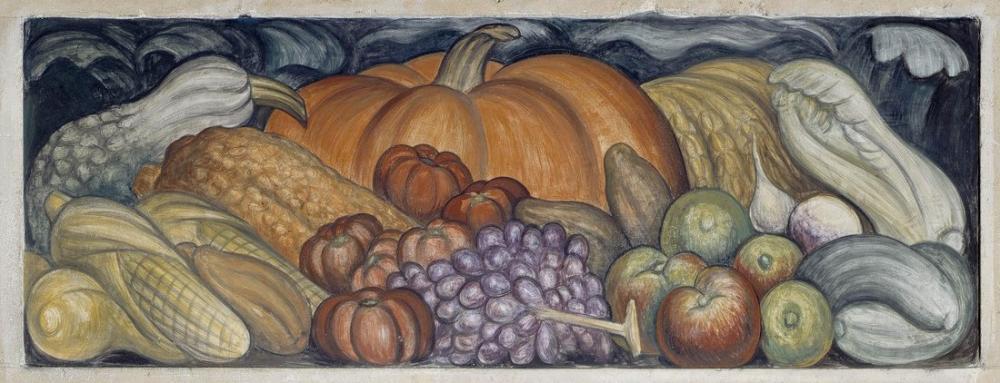 Diego Rivera, Meyveler Sebzeler, Kanvas Tablo, Diego Rivera