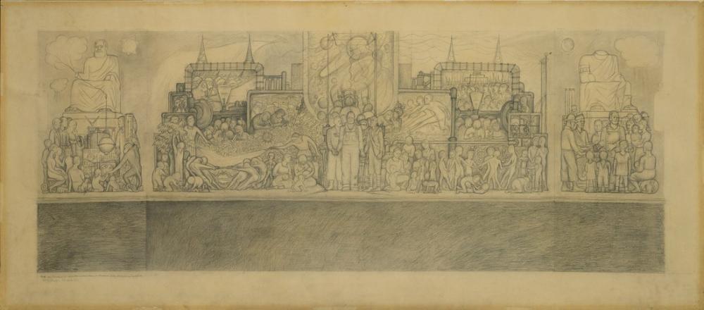 Diego Rivera, Pan Amerikan Birlik Eskiz, Figür, Diego Rivera