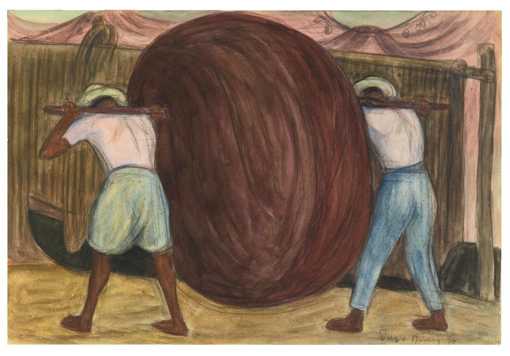 Diego Rivera, Chinchorro Acapulco, Figür, Diego Rivera
