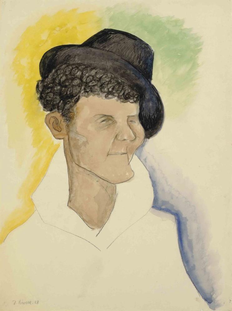 Diego Rivera, Şapkalı Adam, Figür, Diego Rivera