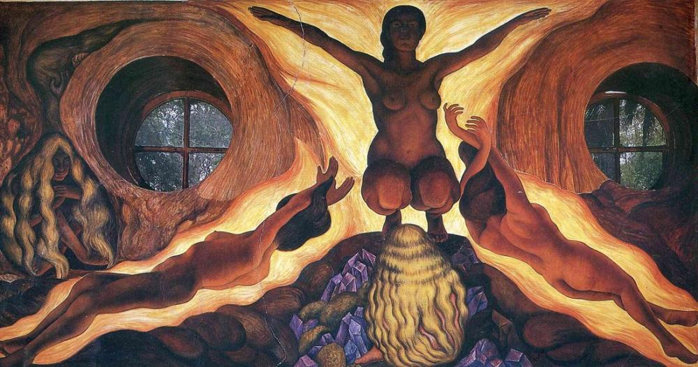 Diego Rivera, Yeraltı Kuvvetleri, Figür, Diego Rivera, kanvas tablo, canvas print sales