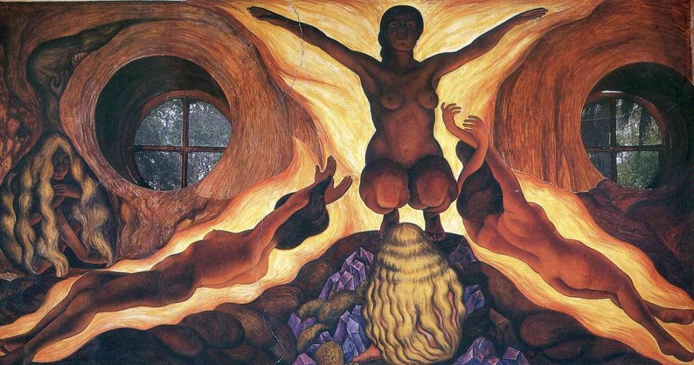 Diego Rivera, Yeraltı Kuvvetleri, Figür, Diego Rivera