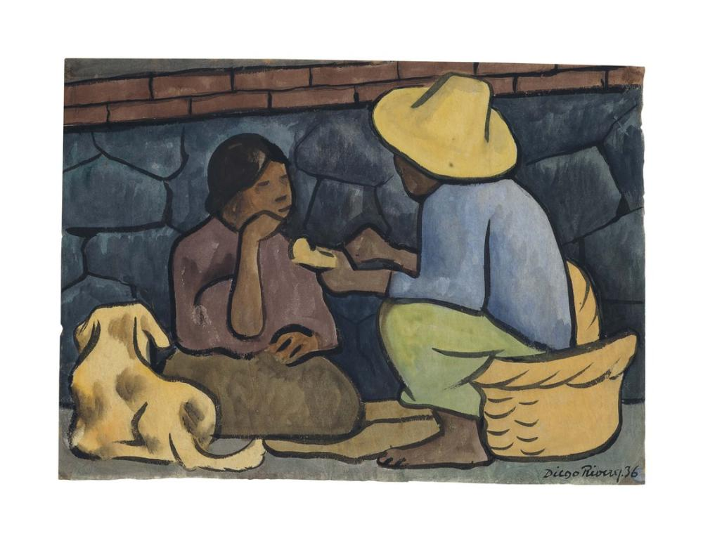 Diego Rivera, La Merienda, Figure, Diego Rivera, kanvas tablo, canvas print sales