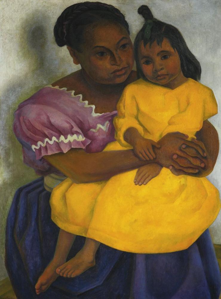 Diego Rivera, Anne, Kanvas Tablo, Diego Rivera
