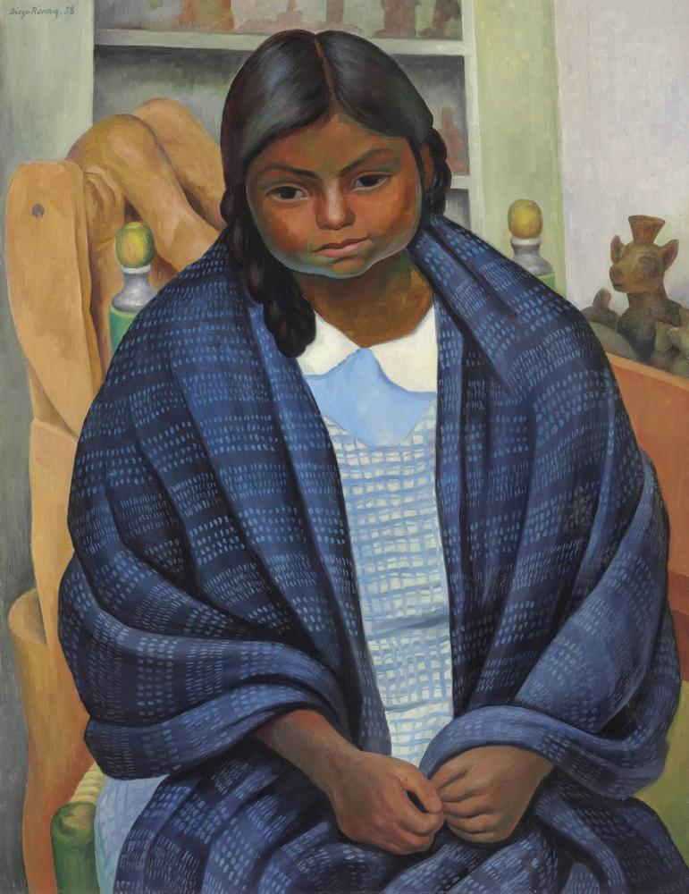 Diego Rivera, Nina con Rebozo, Canvas, Diego Rivera, kanvas tablo, canvas print sales