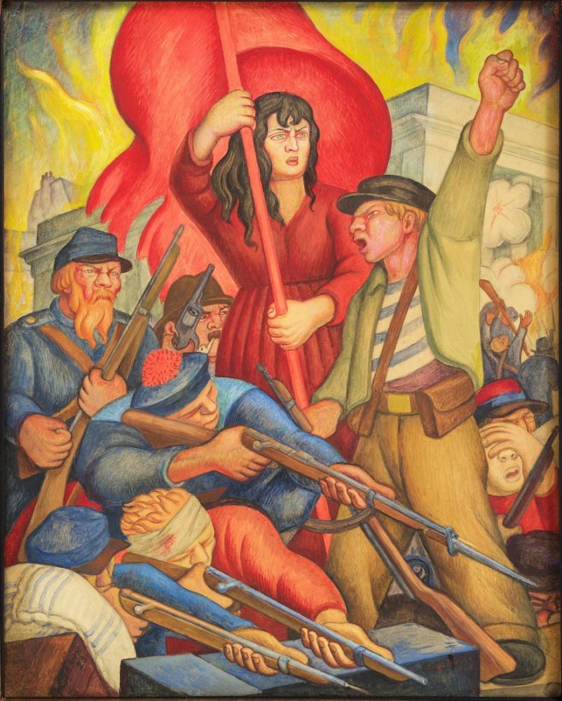 Diego Rivera, Communeros de Paris, Canvas, Diego Rivera, kanvas tablo, canvas print sales