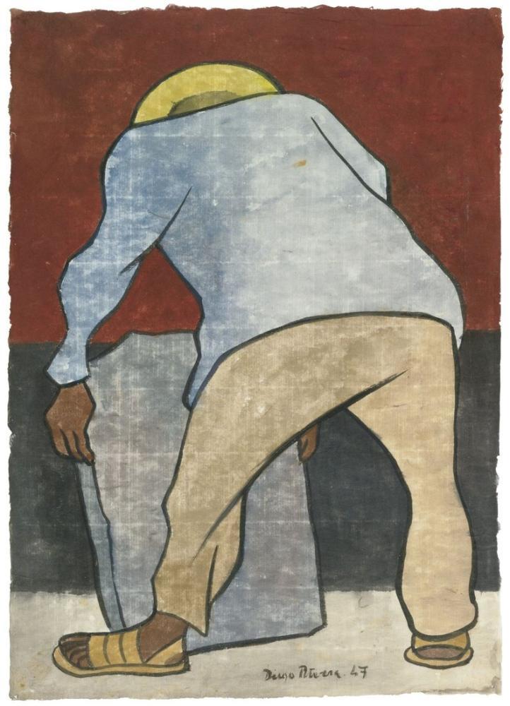 Diego Rivera, Stoneworker, Figure, Diego Rivera, kanvas tablo, canvas print sales