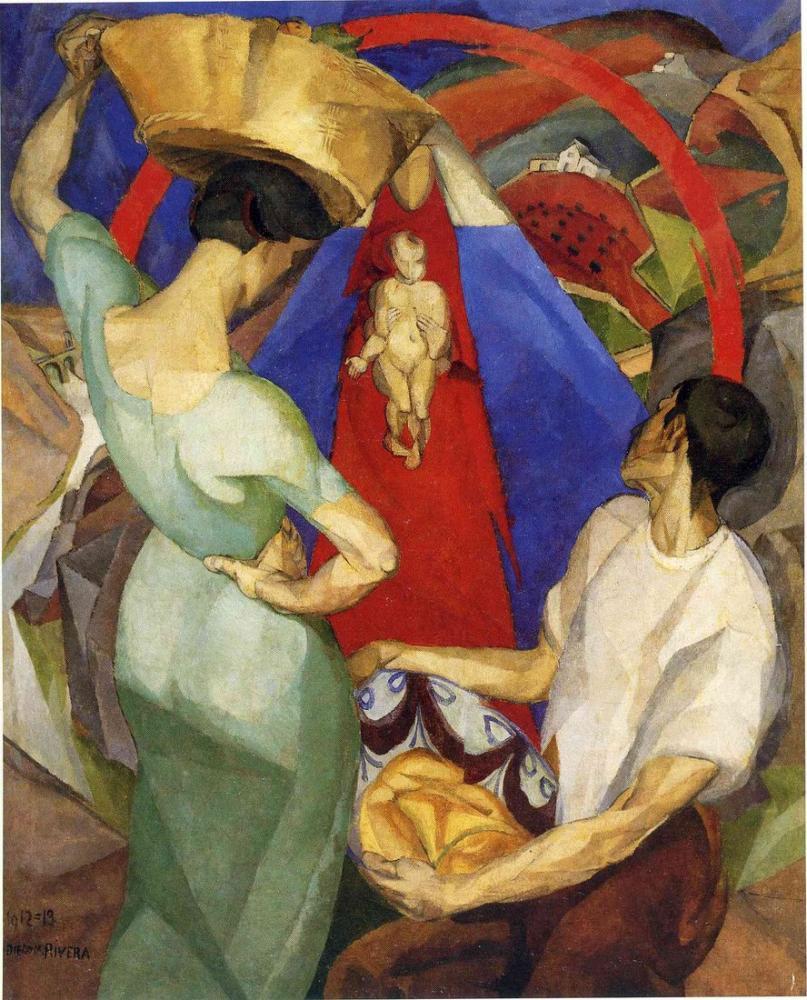 Diego Rivera, Bakire'nin Hayranlığı, Figür, Diego Rivera
