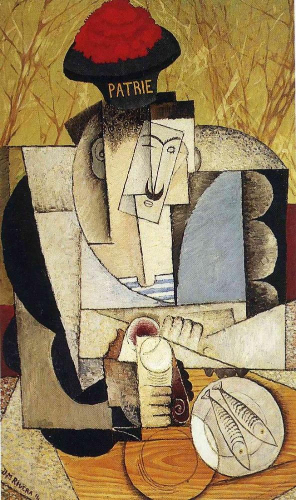 Diego Rivera, Sailor at Breakfast, Figure, Diego Rivera, kanvas tablo, canvas print sales