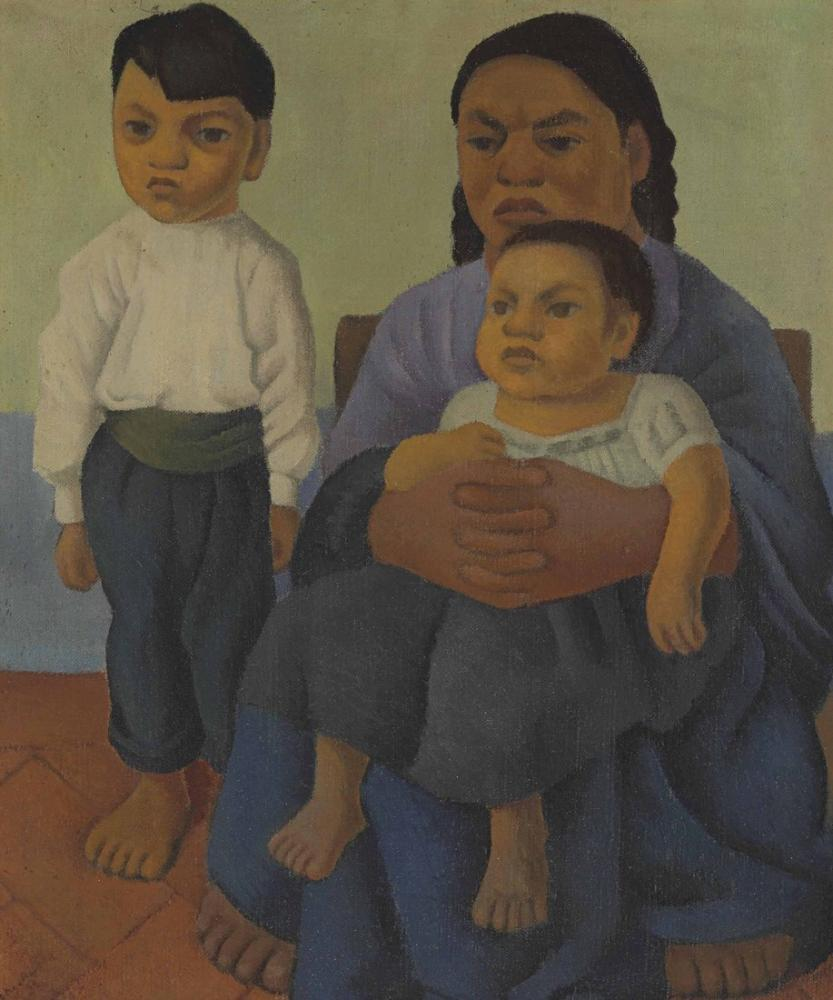 Diego Rivera, Madre con Hijos, Figure, Diego Rivera, kanvas tablo, canvas print sales