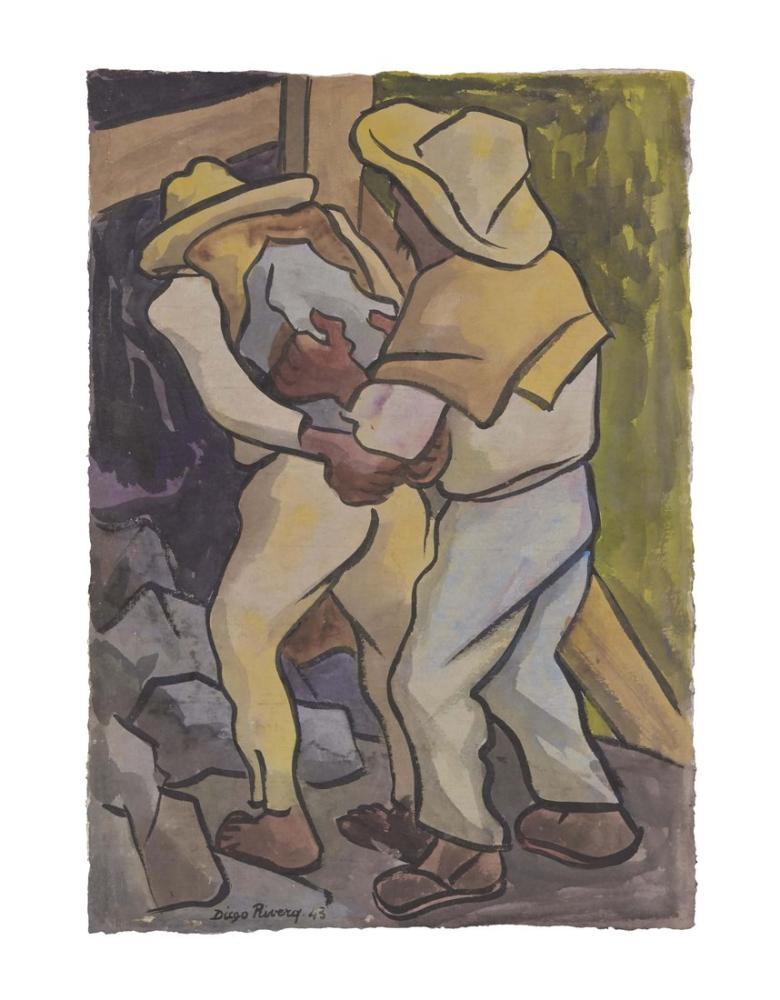 Diego Rivera, Workers Untitled, Figure, Diego Rivera, kanvas tablo, canvas print sales