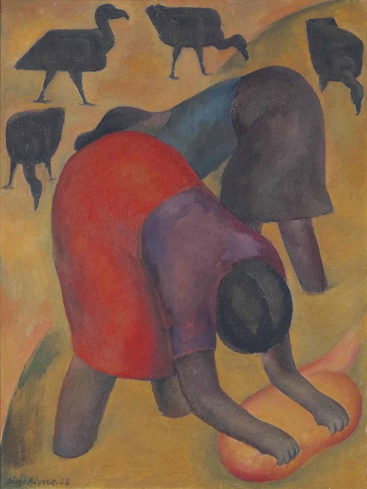 Diego Rivera, Akbabalar ile Yıkayıcı Kadınlar, Figür, Diego Rivera
