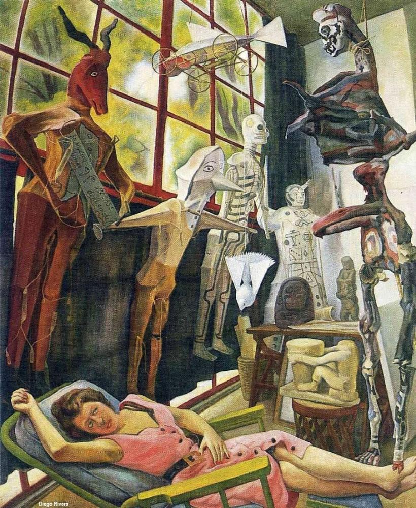 Diego Rivera, The Artists Studio, Figure, Diego Rivera, kanvas tablo, canvas print sales