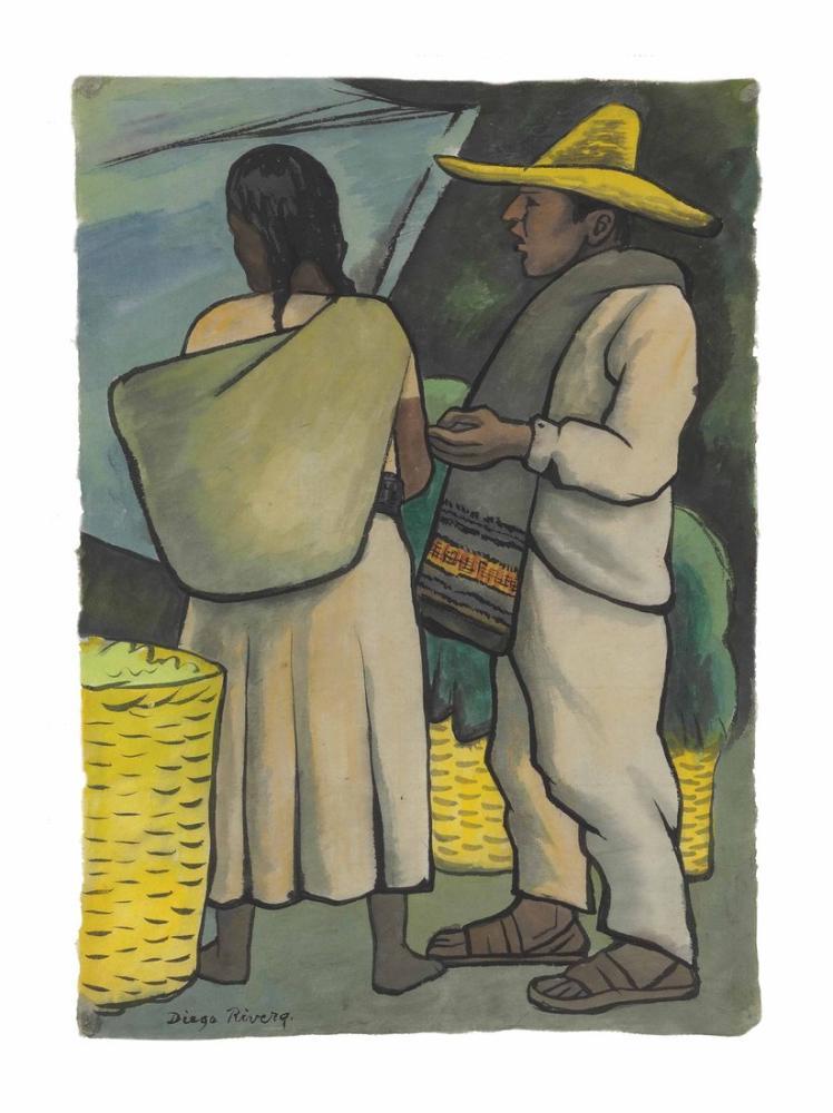 Diego Rivera, Untitled, Canvas, Diego Rivera, kanvas tablo, canvas print sales