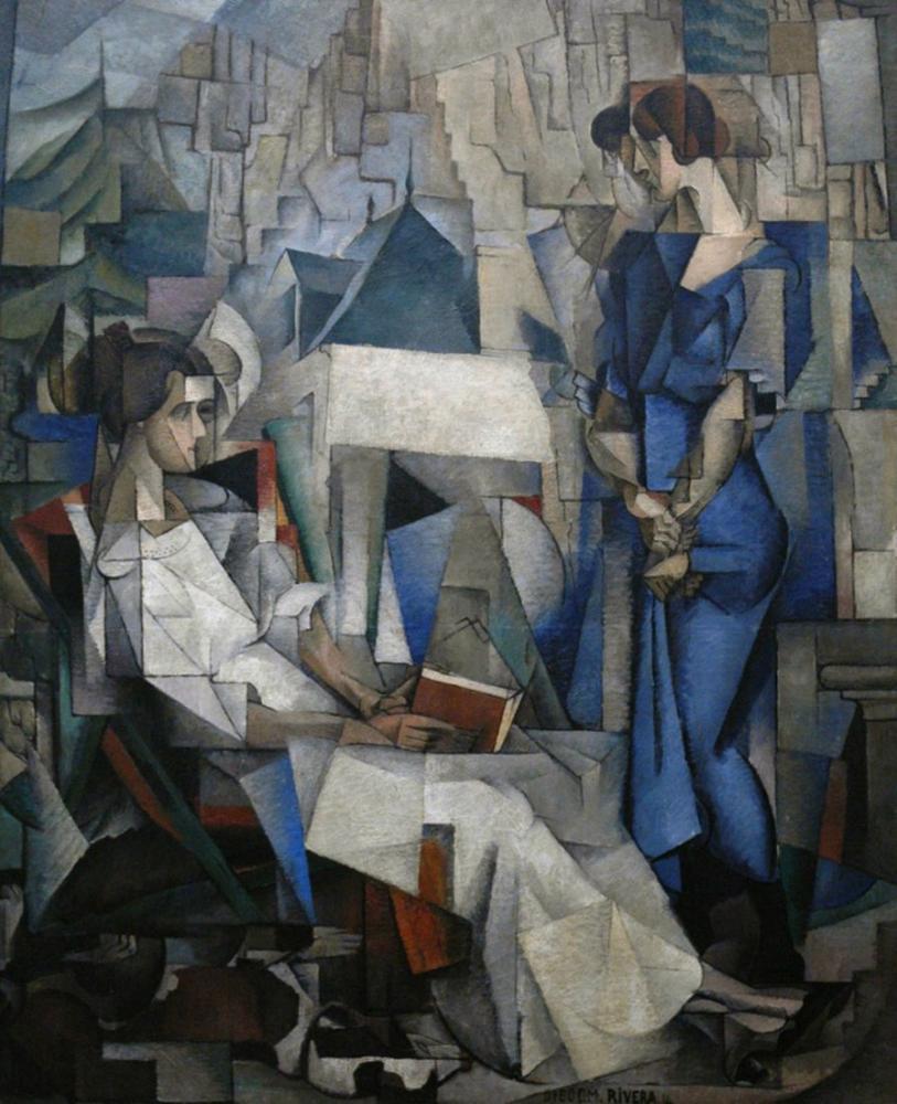 Diego Rivera, İki Kadın Portresi, Figür, Diego Rivera