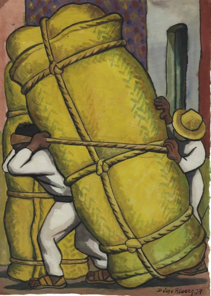 Diego Rivera, Cargadores, Canvas, Diego Rivera, kanvas tablo, canvas print sales