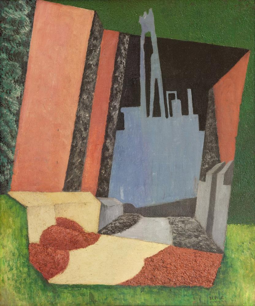 Diego Rivera, Şehir Manzarası, Figür, Diego Rivera, kanvas tablo, canvas print sales