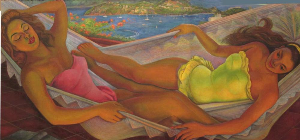 Diego Rivera, The Hammock, Canvas, Diego Rivera, kanvas tablo, canvas print sales