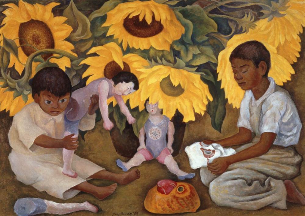 Diego Rivera, Ayçiçekleri, Figür, Diego Rivera