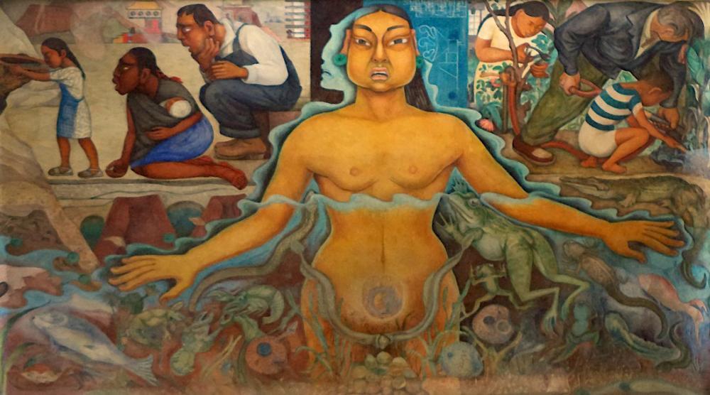 Diego Rivera, Cárcamo del Río Lerma, Figure, Diego Rivera, kanvas tablo, canvas print sales
