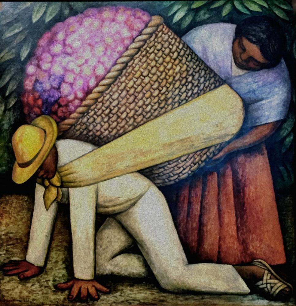 Diego Rivera, Çiçek Taşıyıcı, Figür, Diego Rivera