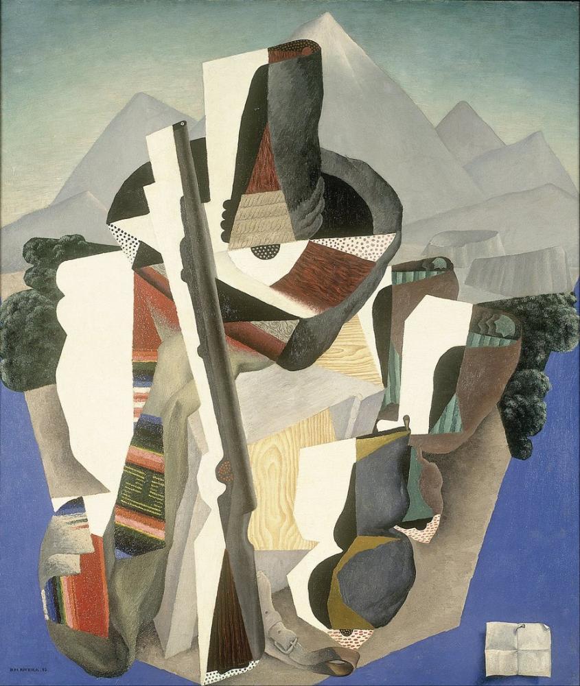 Diego Rivera, Zapata Style Landscape, Figure, Diego Rivera, kanvas tablo, canvas print sales
