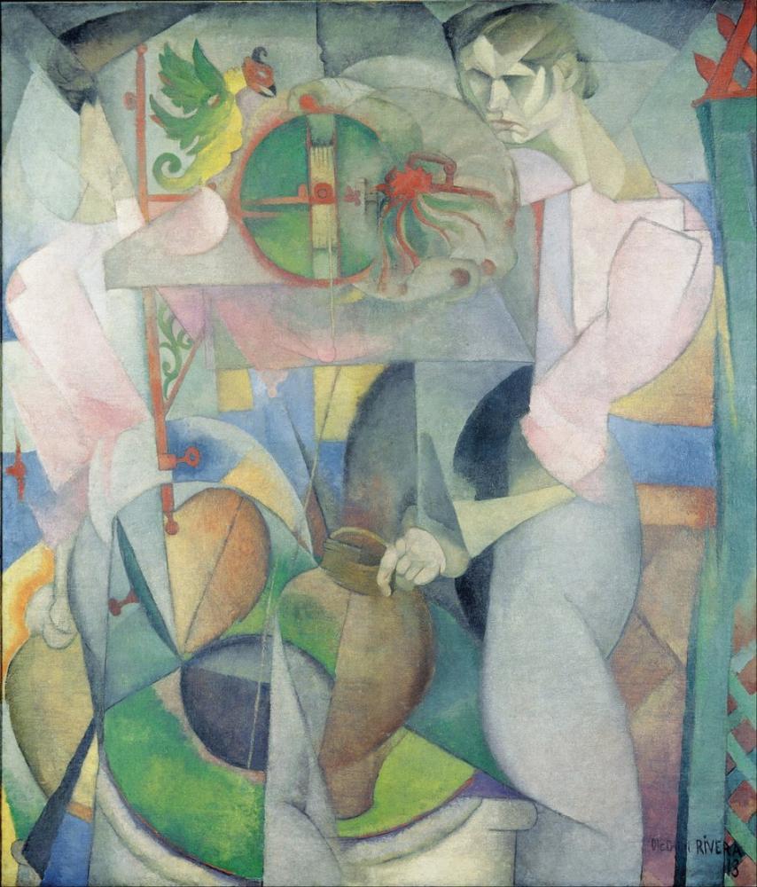 Diego Rivera, Kuyudaki Kadın, Figür, Diego Rivera