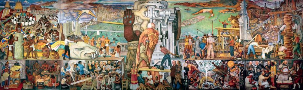 Diego Rivera, Pan American Unity, Figure, Diego Rivera, kanvas tablo, canvas print sales