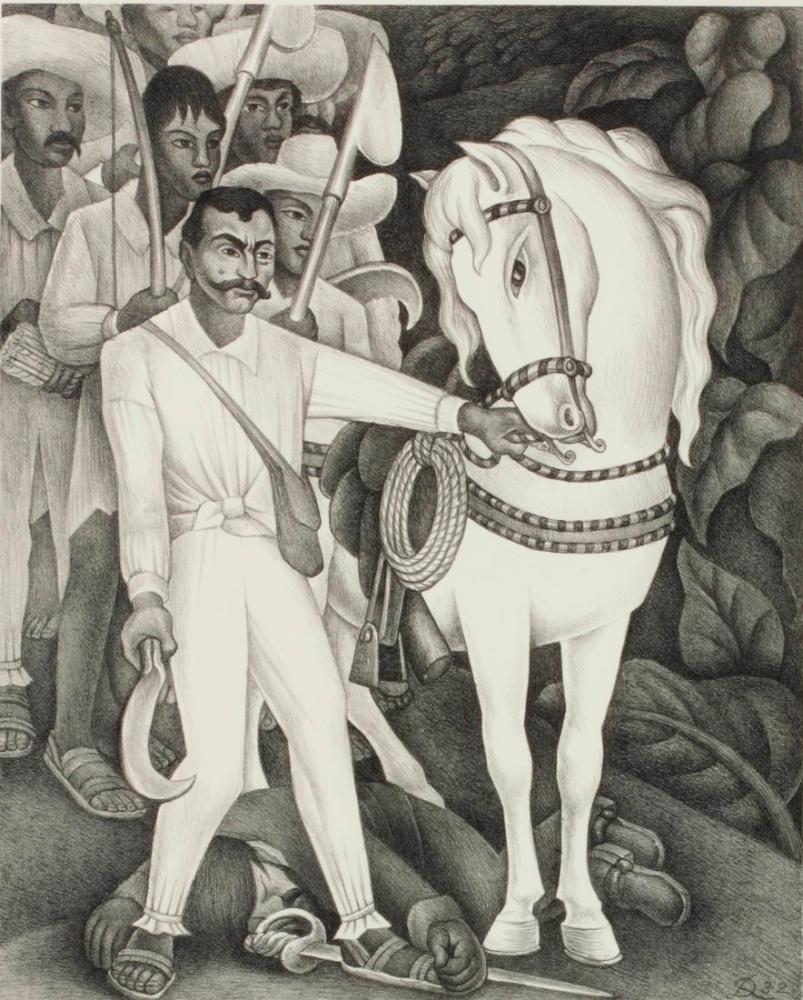 Diego Rivera, Zapata Litografı, Kanvas Tablo, Diego Rivera, kanvas tablo, canvas print sales