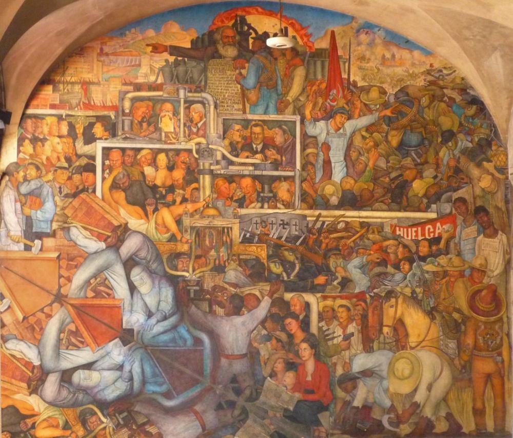 Diego Rivera, Sınıf Mücadelesi, Figür, Diego Rivera, kanvas tablo, canvas print sales