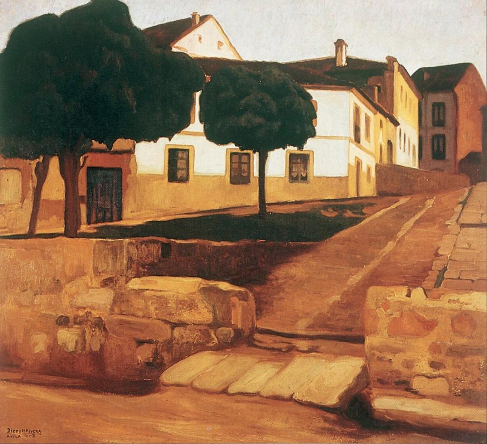 Diego Rivera, Street in Ávila, Canvas, Diego Rivera, kanvas tablo, canvas print sales