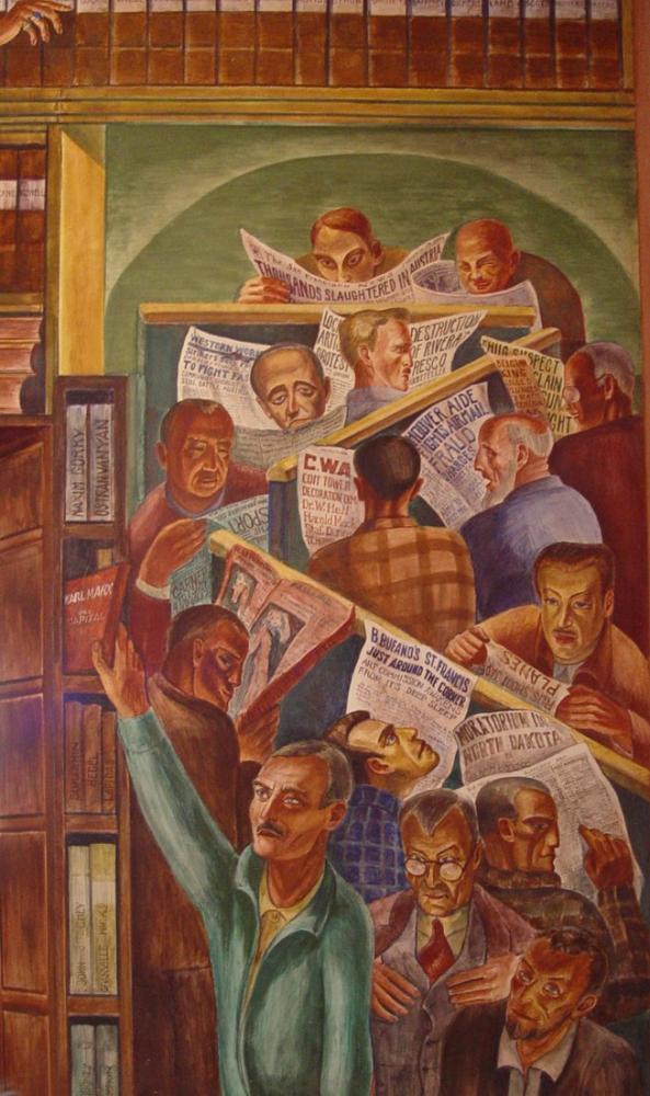 Diego Rivera, Coit Tower Mural Library, Canvas, Diego Rivera, kanvas tablo, canvas print sales