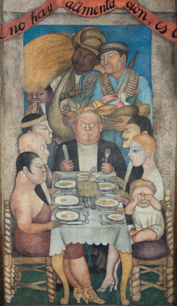 Diego Rivera, Capitalist Dinner, Canvas, Diego Rivera, kanvas tablo, canvas print sales