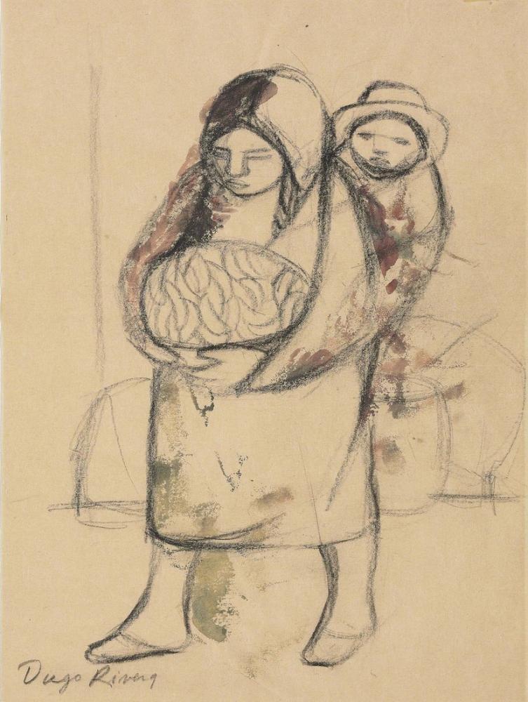 Diego Rivera, Untitled Skecth, Figure, Diego Rivera, kanvas tablo, canvas print sales