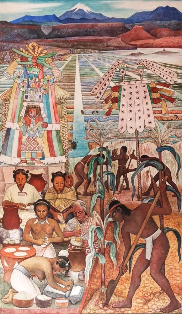 Diego Rivera, La Cosecha del Cacao, Figure, Diego Rivera, kanvas tablo, canvas print sales