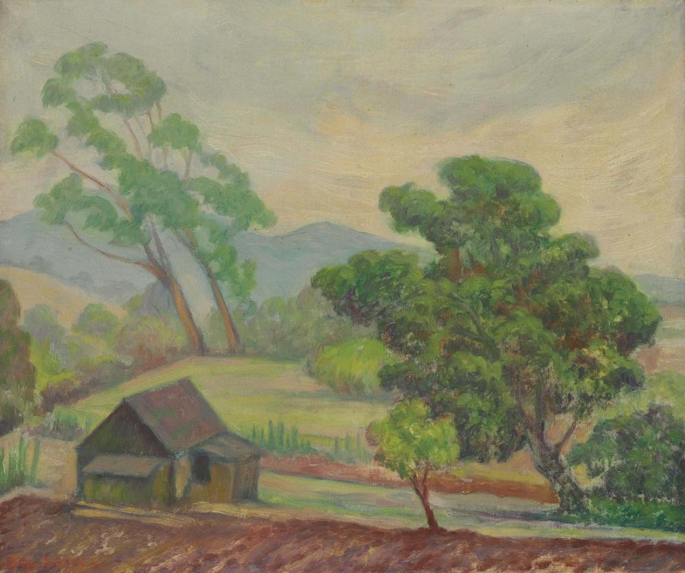 Diego Rivera, Bir Ev ile Manzara, Kanvas Tablo, Diego Rivera