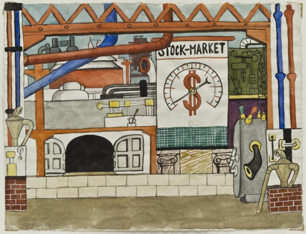 Diego Rivera, Borsa, Figür, Diego Rivera