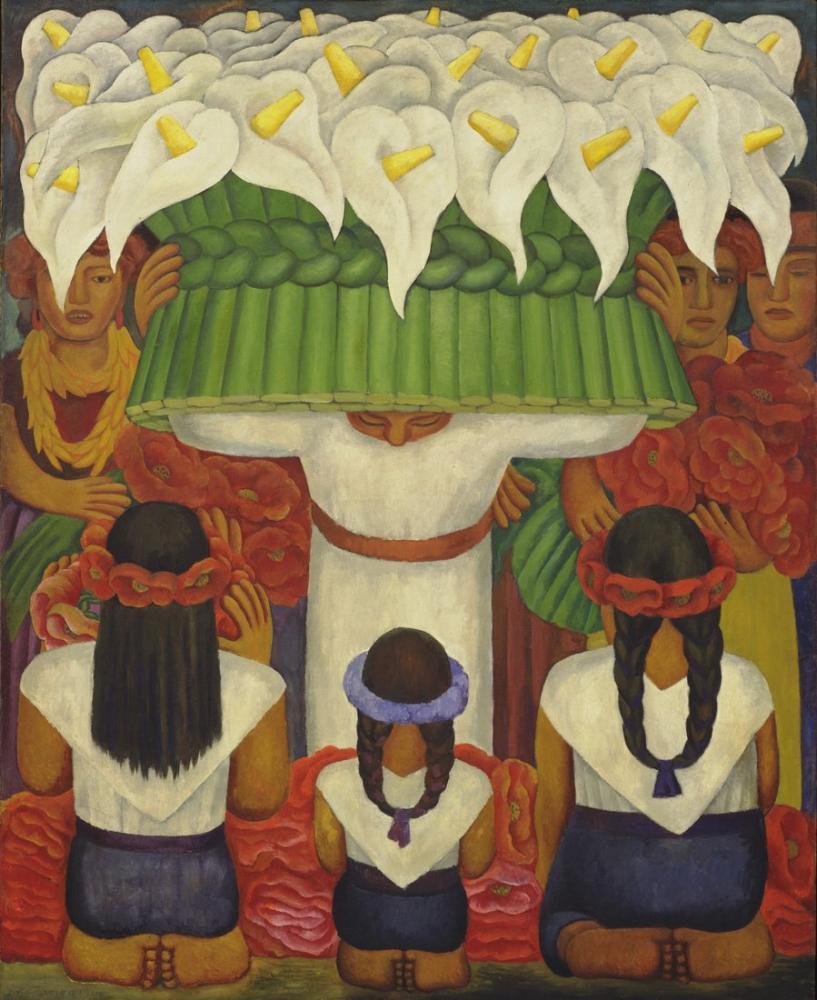 Diego Rivera, Flower Festival, Feast of Santa Anita, Figure, Diego Rivera, kanvas tablo, canvas print sales