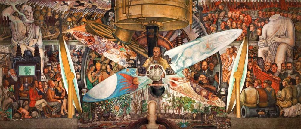 Diego Rivera, Dönüm Noktasında Adam, Figür, Diego Rivera