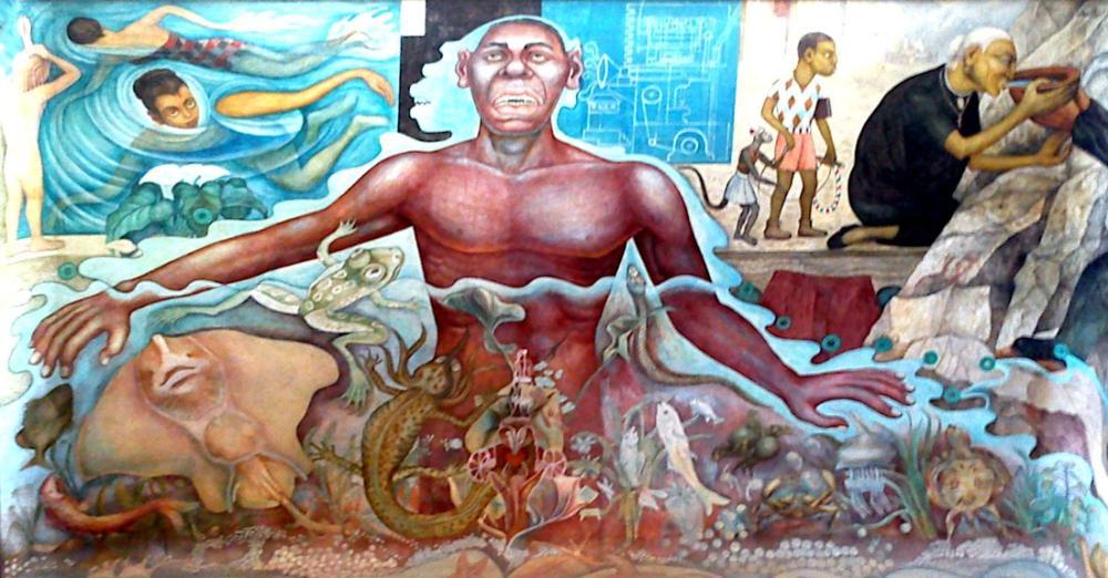 Diego Rivera, Afrika Irkını Simgeleyen Figür, Figür, Diego Rivera