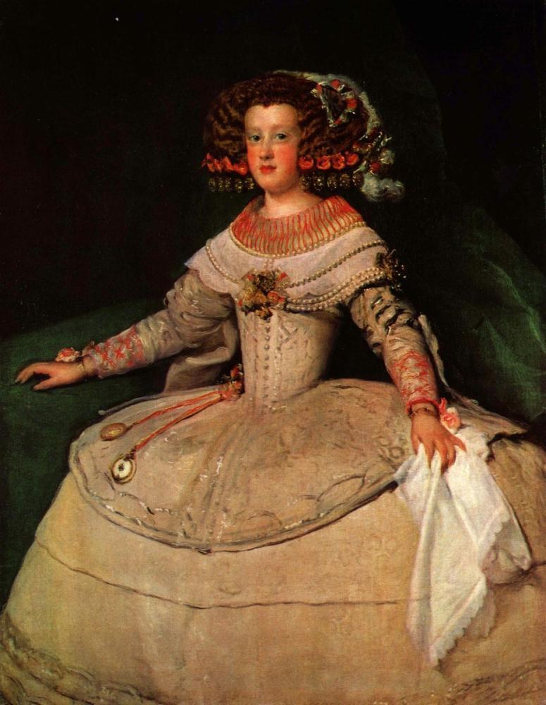 Diego Velázquez, Fransa'da Infanta Maria Teresa'nın Gelecekteki Kraliçesi Marie Therese'nin Portresi, Kanvas Tablo, Diego Velázquez