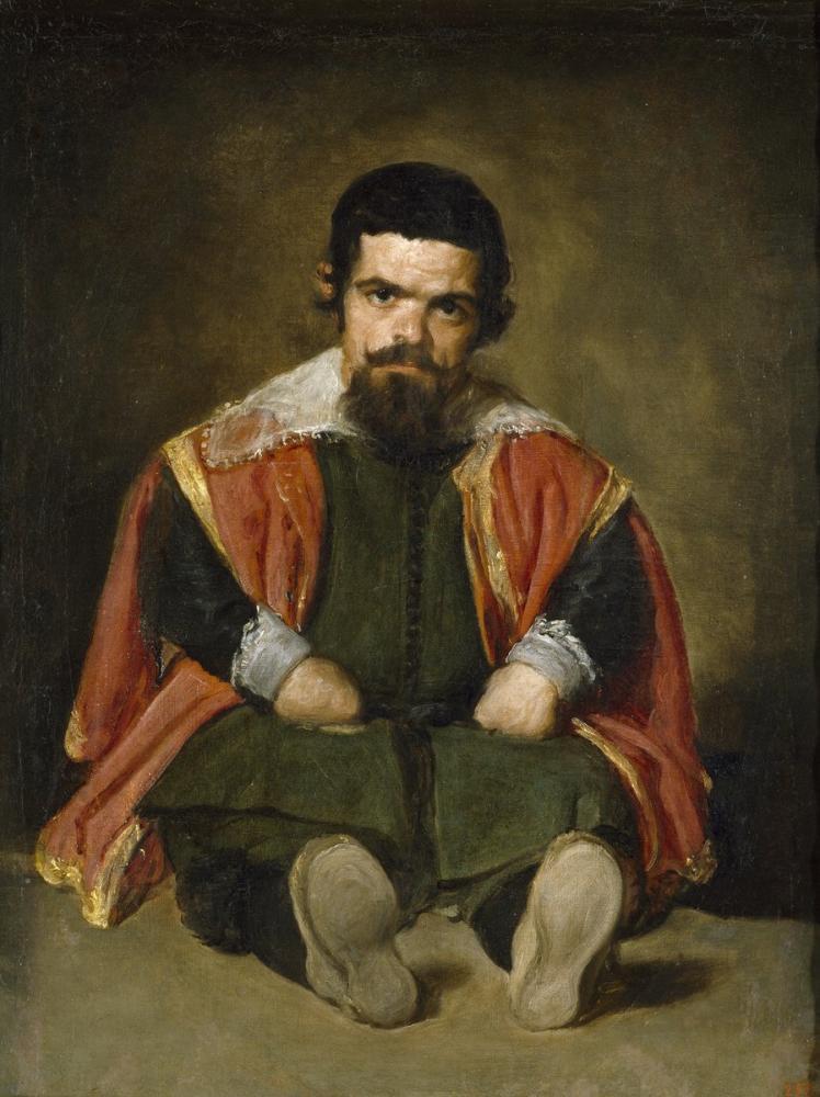 Diego Velázquez, Jester Don Sebastián de Morra, Canvas, Diego Velázquez, kanvas tablo, canvas print sales