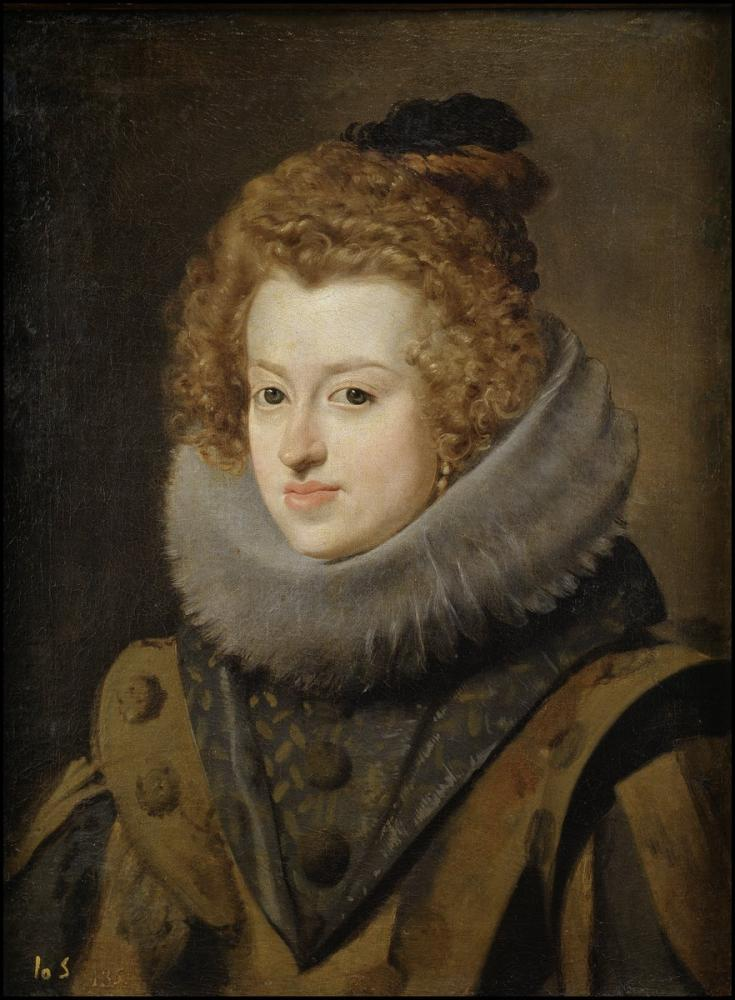Diego Velázquez, İspanya Maria Anna, Kanvas Tablo, Diego Velázquez, kanvas tablo, canvas print sales